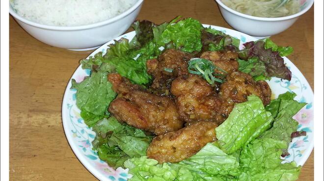 十八番 - 料理写真:22番  油淋鶏定食     630円