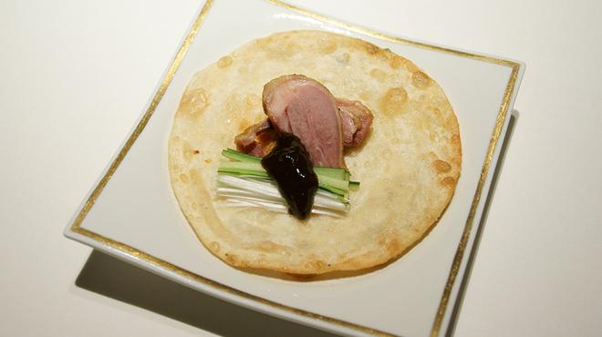 メゾン・ド・ユーロン - 料理写真:鴨肉の燻製 甘味噌添えクレープ巻き