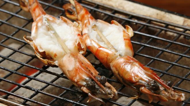 赤羽 トロ函 - 料理写真:海老の鬼殻焼 ¥754