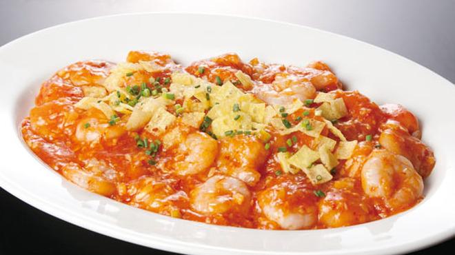 香港蒸龍 - 料理写真:海老のチリソース煮