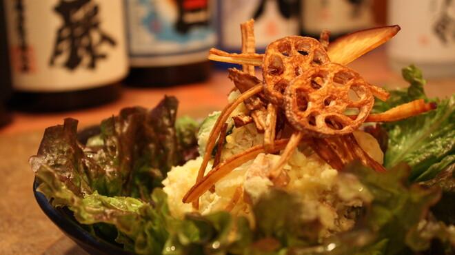 もんじろう - 料理写真:自家製のポテトサラダ