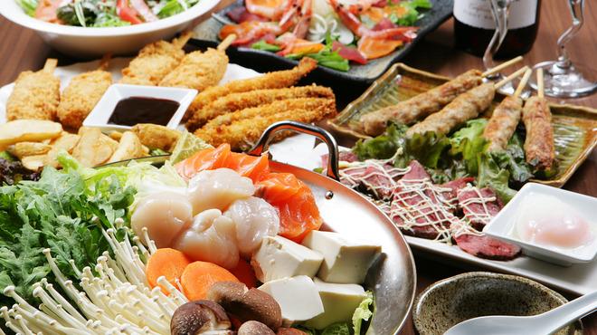 竹取御殿 - 料理写真:ご予算にあわせて各種コース取り揃えております!しかもコースはすべて種類豊富な飲み放題付♪