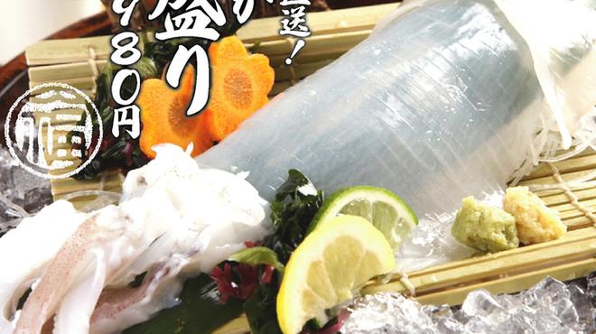 天ぷら海鮮 五福 - 料理写真:真いか姿盛りは当店自慢の一品。2人前程度です。
