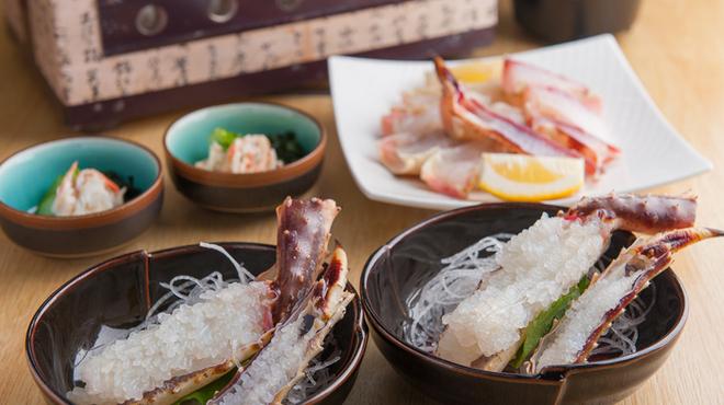 かに問屋 - 料理写真:タラバ炭火焼・天ぷらコース