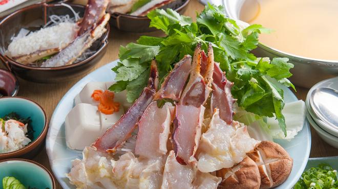 かに問屋 - 料理写真:タラバ天ぷら・かに鍋コース