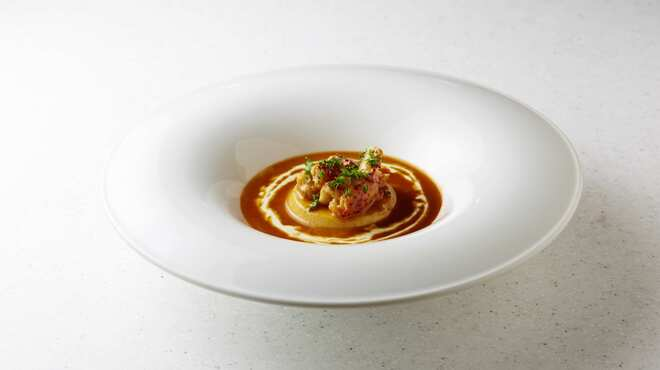 俺のフレンチ - 料理写真:オマール海老入り ビスクスープ
