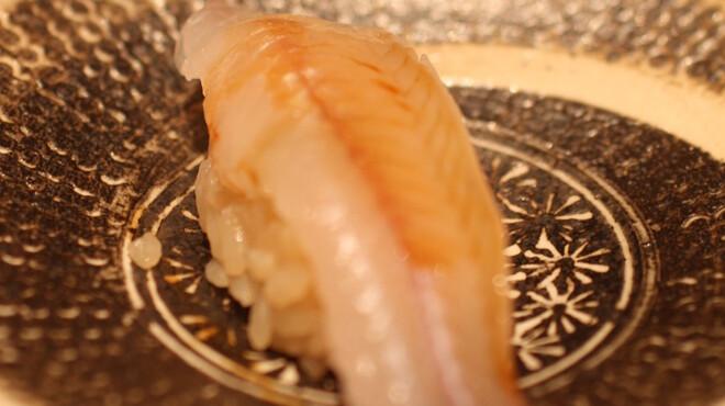 鮨よしたけ - 料理写真:千葉県富津産 鱚昆布〆