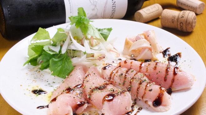 大衆ビストロ ぐりぐり - 料理写真:鶏たたきのカルパッチョ