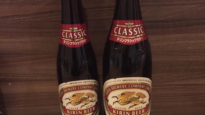 節 - ドリンク写真:ビール 小瓶¥350 中瓶 ¥450 生中ジョッキ ¥450