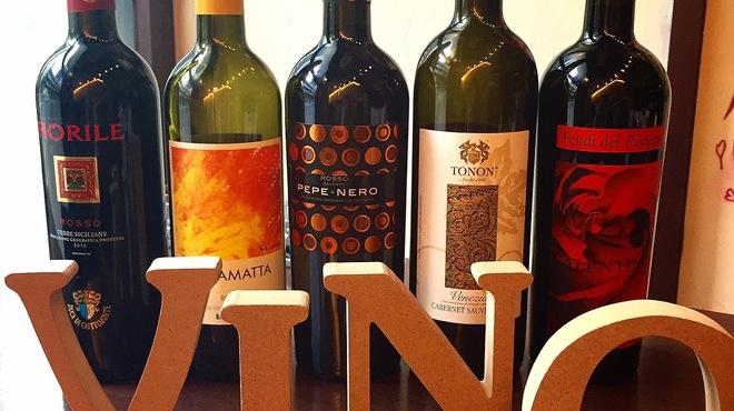 ヴィーノロマンティカ - ドリンク写真:ある日の赤グラスワイン