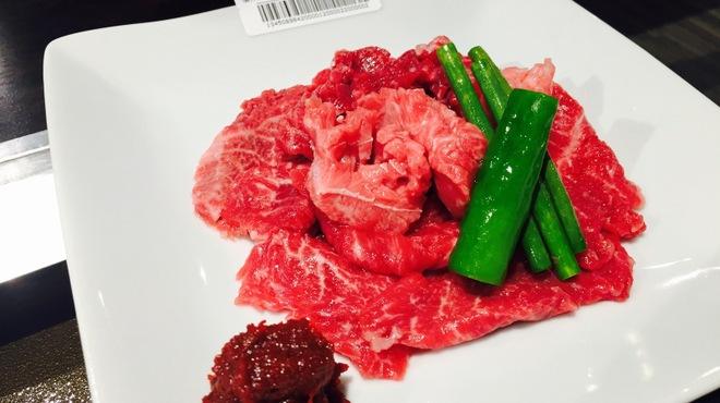 俺の焼肉 - 料理写真:黒毛和牛 外ももハバキの塩焼き