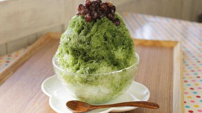 サンテカフェ - 料理写真:西尾の抹茶のかき氷2016