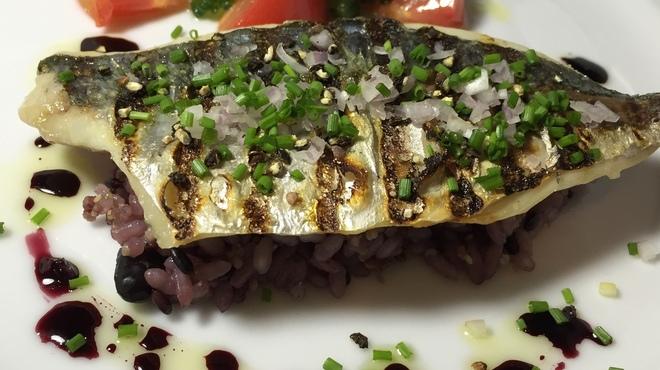 Le Temps - 料理写真:鯵のグリル 十五穀米のピラフとゴーヤのサラダ
