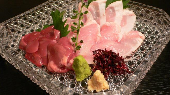 おはな - 料理写真:地頭鶏の刺身