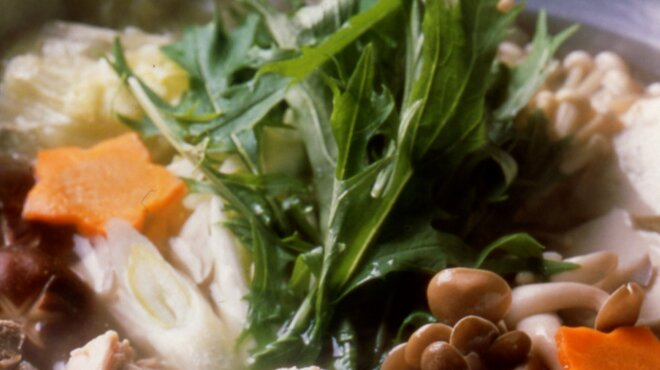 博多水たき元祖 水月 - 料理写真:水月鍋アップ