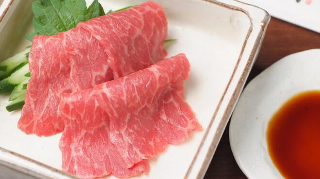 翔山亭  - 料理写真:赤身刺!にんにく醤油との相性抜群。