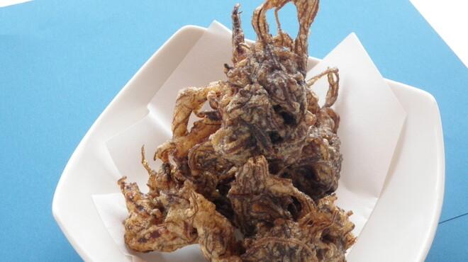 海森 - 料理写真:もずく天ぷら 650円
