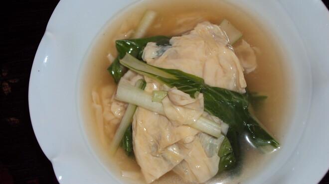 藤石 - 料理写真:湯葉となっぱのあんかけ