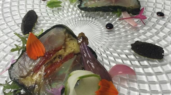 リストランテ・ホンダ - 料理写真:鯵と焼き茄子のカルパッチョ