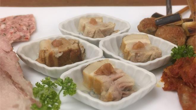 豚組 しゃぶ庵 - 料理写真:豚づくし宴会の前菜5点盛り合わせ