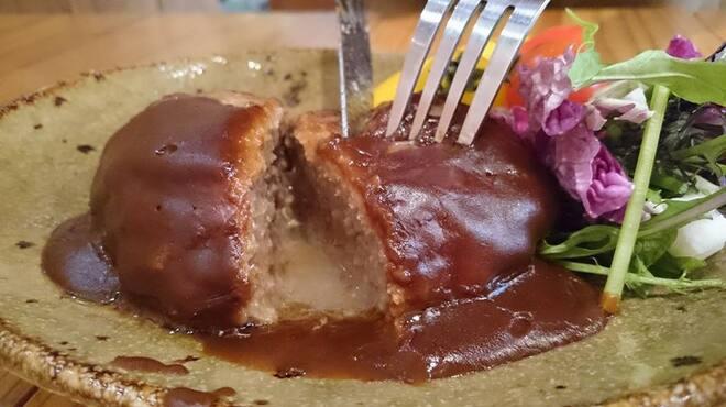 はな豆 - 料理写真:年末企画 姫路のグリル天平とのコラボ商品「肉汁ハンバーグ」