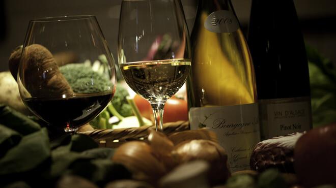 マザーエスタ - 料理写真:お野菜と共にワインを楽しんで・・・