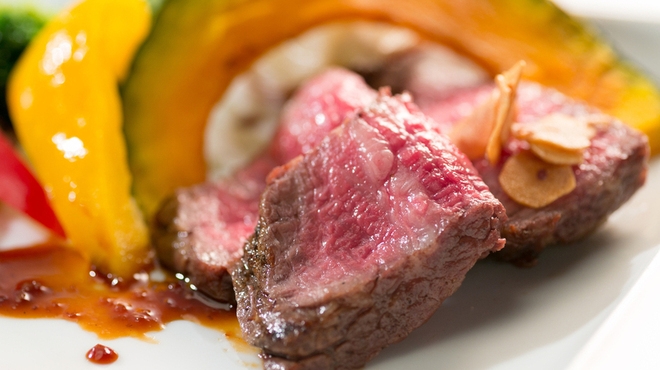 ごちそうお肉ビストロ くう海 - 料理写真:A4ランク国産黒毛和牛ステーキ みすじ¥3280 さんかく¥2980 とうがらし¥2780