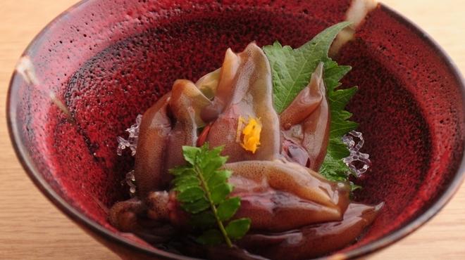 ときすし - 料理写真:ホタルイカの沖漬け480