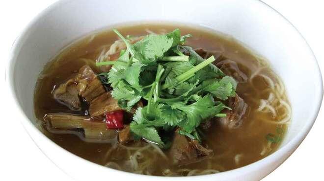 枸杞の実 - 料理写真:牛肉パクチーー塩タンメン