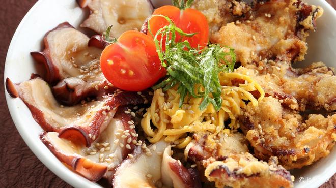 センカエン - 料理写真:「ふるさと三陸オリジナル丼グランプリ」で最優秀賞を受賞した『タコ丼』