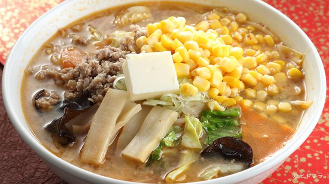 センカエン - 料理写真:こだわり味噌を使った具だくさんの一杯『たかた味噌バターコーンラーメン』