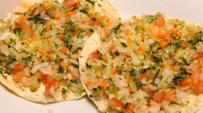 インドラディップ - 料理写真:マサラパパダ