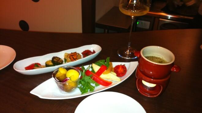 ヴィーノロマンティカ - 料理写真:グリル野菜のマリネとバーニャカウダ