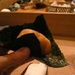 鮨 喜久佳 - お気に入りの、帆立の磯辺焼