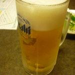 骨付鳥 はなや - 生ビール中一杯目