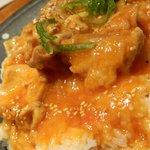 煉 - 日替わりランチの若鶏のトマト煮込み アップ
