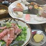 ぼて - 極み握り¥2000、贅沢三昧丼¥1200