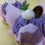 パティスリーもりん - 料理写真:紫イモのモンブラン