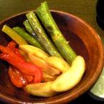 Pre De - 焼き野菜と岩塩