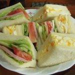 きゃびん - 料理写真:ミックスサンドイッチ(900円)