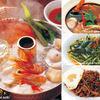 コカレストラン JR博多シティ - 料理写真:左:タイスキ 右上:トムヤンクン 右中:パッパックブンファンデーン  右下:ムーガパオ