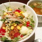 ナナズグリーンティー - タコライス丼(¥880)