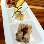ハチイチ レストラン - 根菜金平 海老カステラ 寄せ茸
