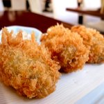 フリッツ - 軽やかな仕上がりは やまいち@須田町を彷彿とさせます。 腔中に広がる海の香り やっと牡蠣の季節も 良い具合になってきたかな。