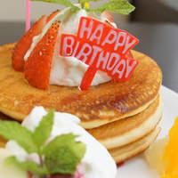 代官山パンケーキカフェClover's - Happy Happy Birthday!!    1500円