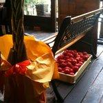らるきい - 新鮮なトマトがたくさんあった。