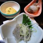佐久寿司 - 料理写真:突き出し3品