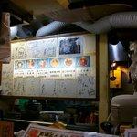 築地 どんぶり市場 - 壁に貼られたサイン色紙