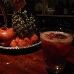 バー ノーツ - 苺のフレッシュフルーツカクテル! 女性でお酒の強くない方に人気のカクテル♪