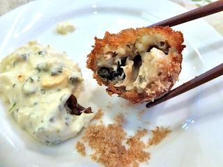 ミラベル - カキフライ(藻塩で食べてもウマいですよ!)